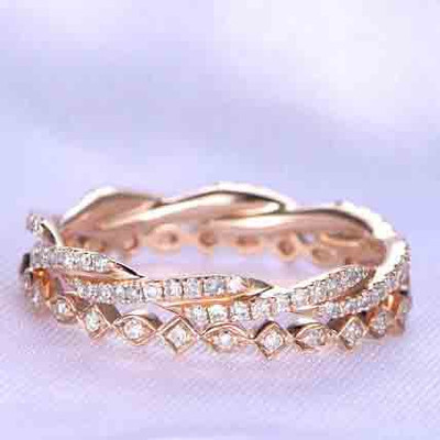 Full Eternity unique wedding bands for women 1