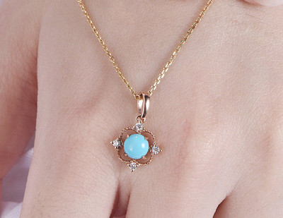 Turquoise Necklace 18k