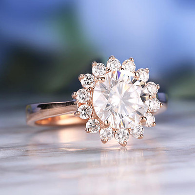 moissanite vintage engagement rings