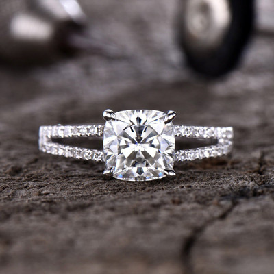 Forever One Moissanite Engagagement Ring