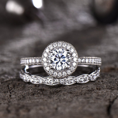 Moissanite Wedding Sets