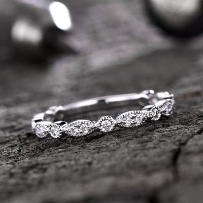 Diamond Wedding Rings-BBBGEM Marquise Diamond Wedding Band Gold