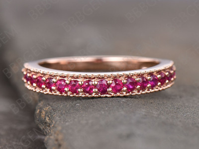 Eternity Ruby Wedding Band