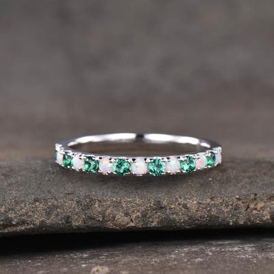 Opal & Emerald Ring
