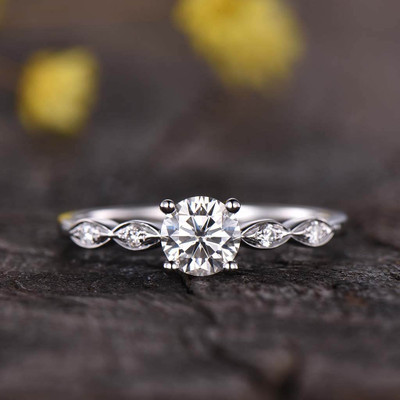 Diamond Engagement Ring Rose Gold Ring