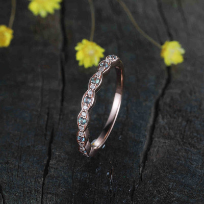 alexandrite and diamond wedding band 05