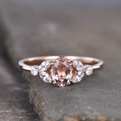 Rose Gold Morganite Engagement Ring