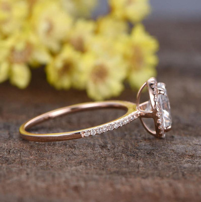 Oval Diamond Engagement Ring Halo