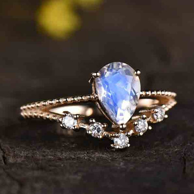 Vintage Female Moonstone engagement ring 0