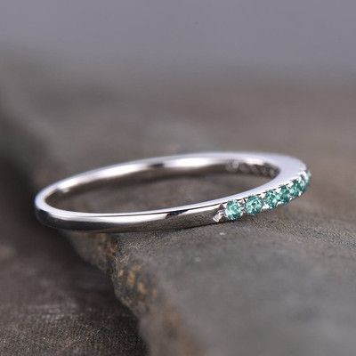 alexandrite eternity band