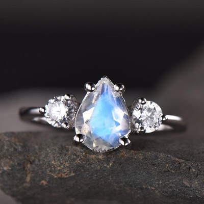 Vintage Female Moonstone engagement ring