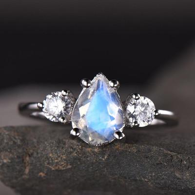 Vintage Female Moonstone engagement ring