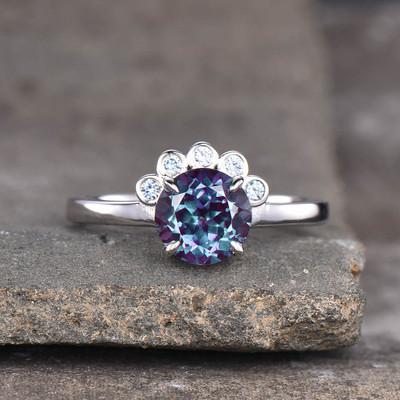 vintage alexandrite ring