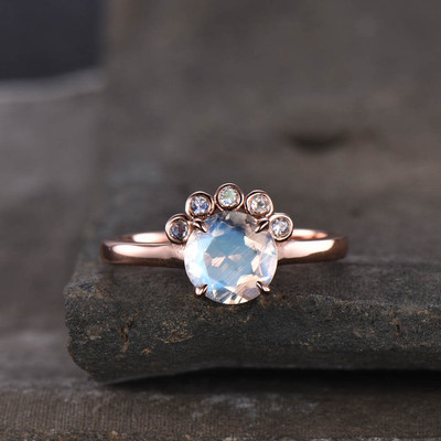 moostone engagement ring