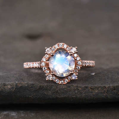 female moonstone engagement ring
