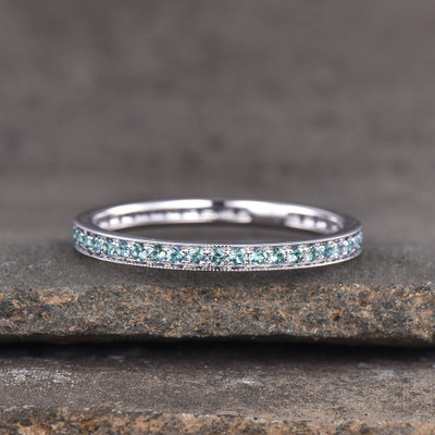 Full Eternity Alexandrite Wedding band