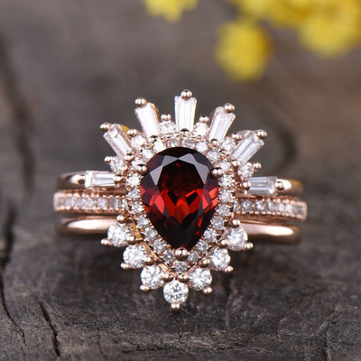 Garnet Wedding Set