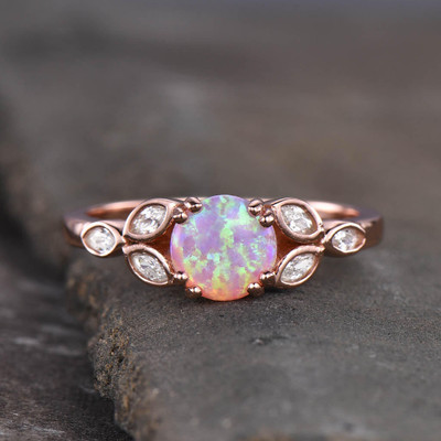 fire opal engagement rings