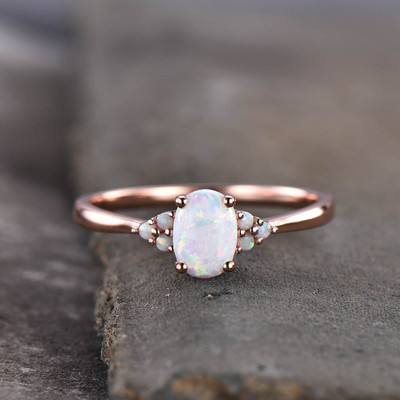 australian opal engagement ring