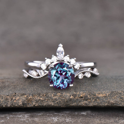 alexandrite solitaire ring