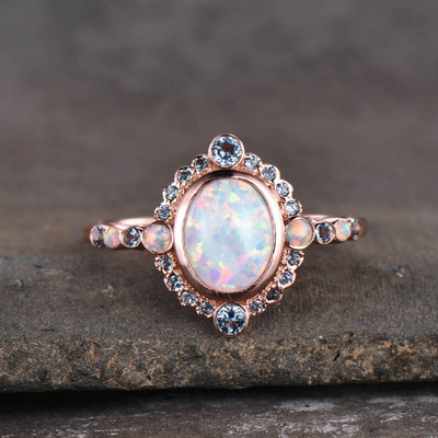 vintage opal engagement ring
