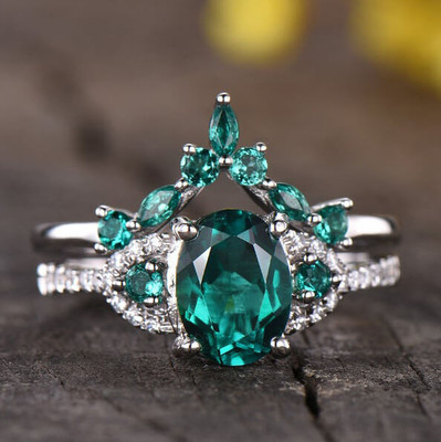 emerald engagement rings-BBBGEM Oval Emerald Ring