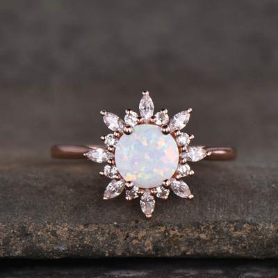opal promise rings