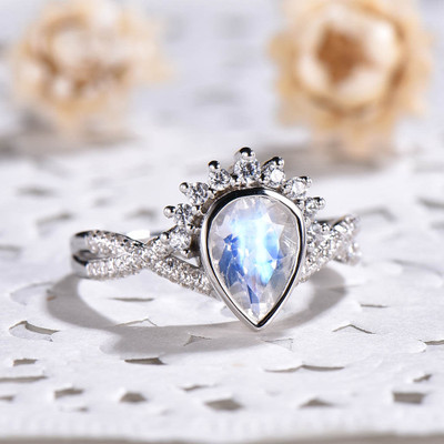 infinity moonstone engagement ring
