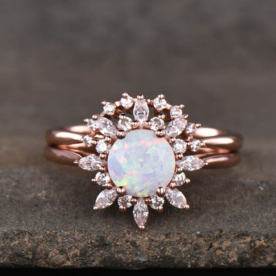 opal wedding ring