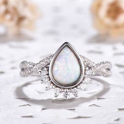 infinity opal engagement ring 0