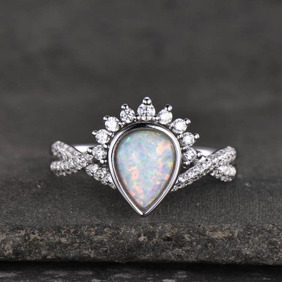 infinity opal engagement ring 1