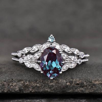 Alexandrite Jewelry For Sale-BBBGEM Real Alexandrite Ring