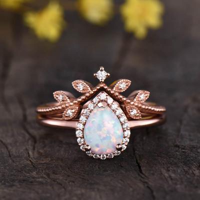 Vintage Opal Bridal Set 0