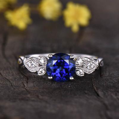 Arr Deco Sapphire Engagement Ring 0