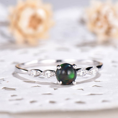 black opal engagement ring 0