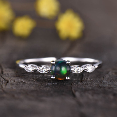black opal engagement ring 03