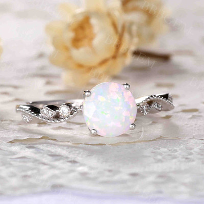 Classic Opal Engagement Ring 03