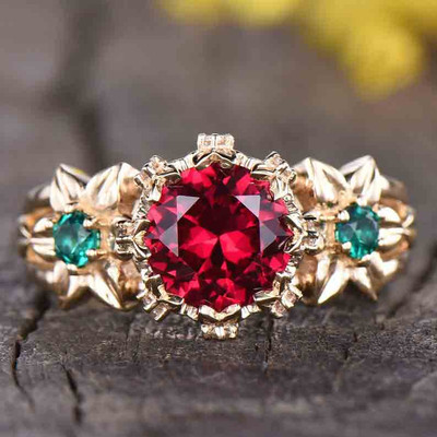 vintage ruby engagement rings 0