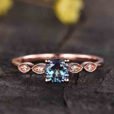 simple alexandrite engagement ring