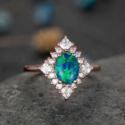 black opal engagement rings vintage 0