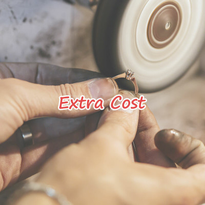 Additional cost for ring size
