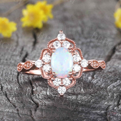 Opal Engagement Ring 10