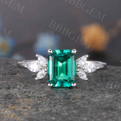 Emerald Cut Emerald Ring 0
