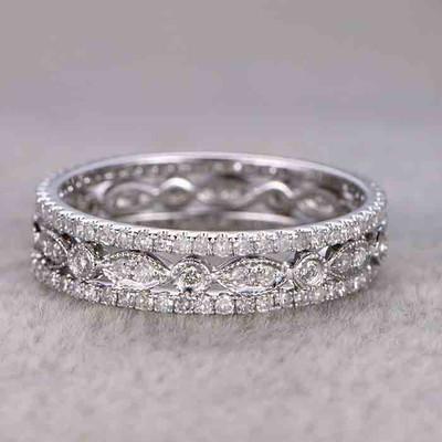 Diamond Wedding Ring Sets White Gold Full Eternity Band 0