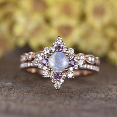 genuine opal ring