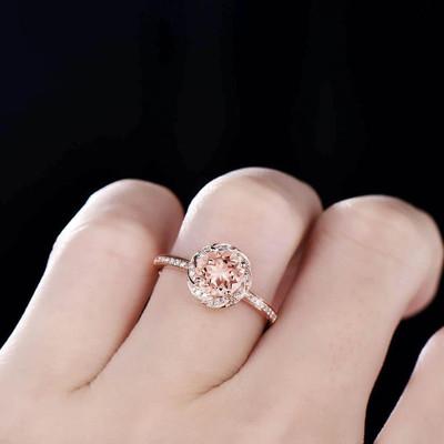 genuine morganite ring