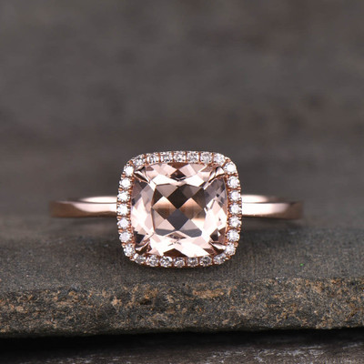 3 carat morganite engagement ring 0