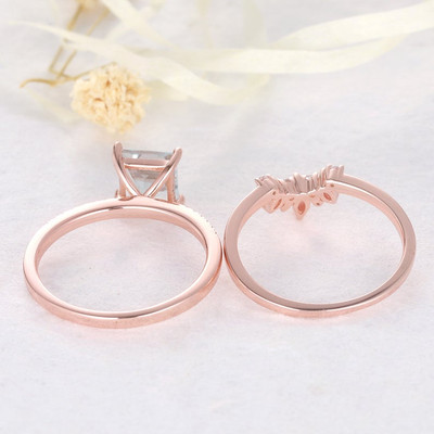 moss agate diamond ring