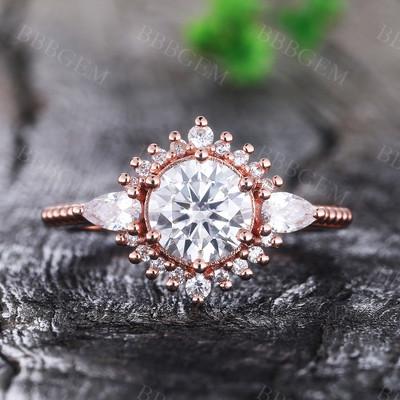 Moissanite Engagement Rings-BBBGEM Moissanite Engagement Rings