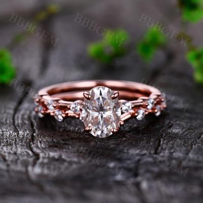 Rose Gold Moissanite Engagement Rings-BBBGEM Moissanite Rings